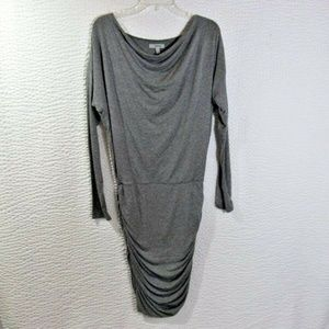 Athleta Dress S Tulip Yoga Ruched Gray Small